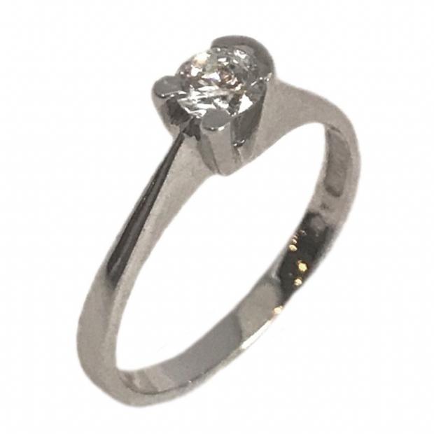 Λευκόχρυσο 14K μονόπετρο δαχτυλίδι με κυβικό ζιργκόν 1476baf3d07
